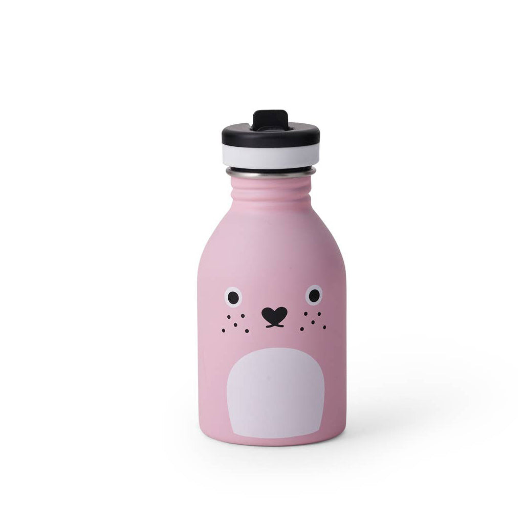 Noodoll - Stainless Steel Water Bottle - Ricecarrot Pink | Mapamundi Kids