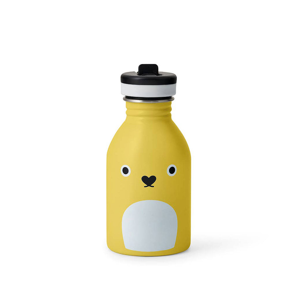 Noodoll - Stainless Steel Water Bottle - Ricecracker Yellow | Mapamundi Kids