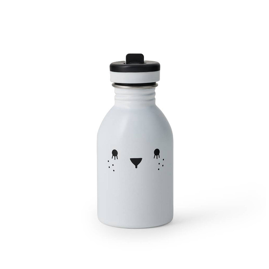 Noodoll - Stainless Steel Water Bottle - Ricecube White | Mapamundi Kids