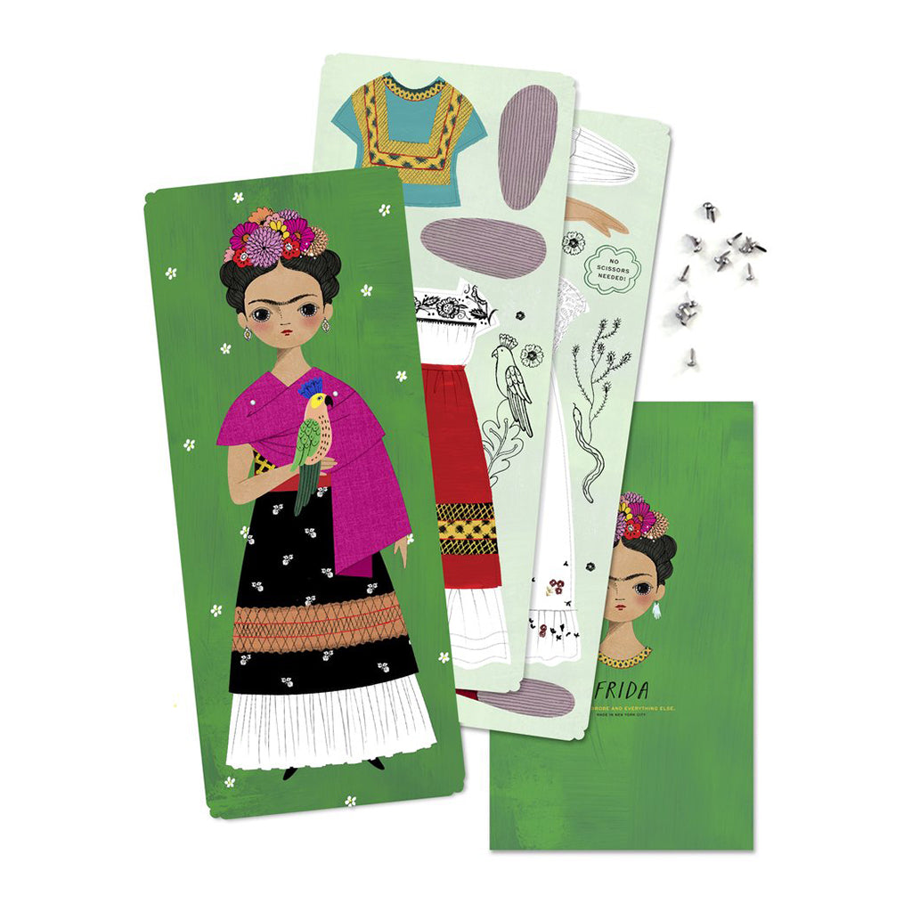 Of Unusual Kind - Frida Paper Doll Kit - Contents - Made in USA