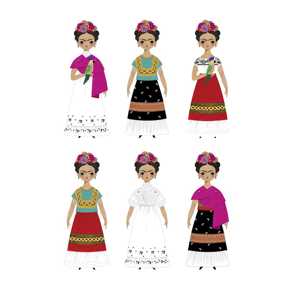 Of Unusual Kind - Frida Paper Doll Kit - Examples - Made in USA