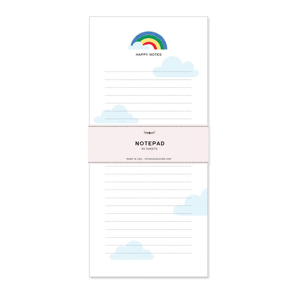 Of Unusual Kind - Happy Notes Rainbow Notepad - Made in USA