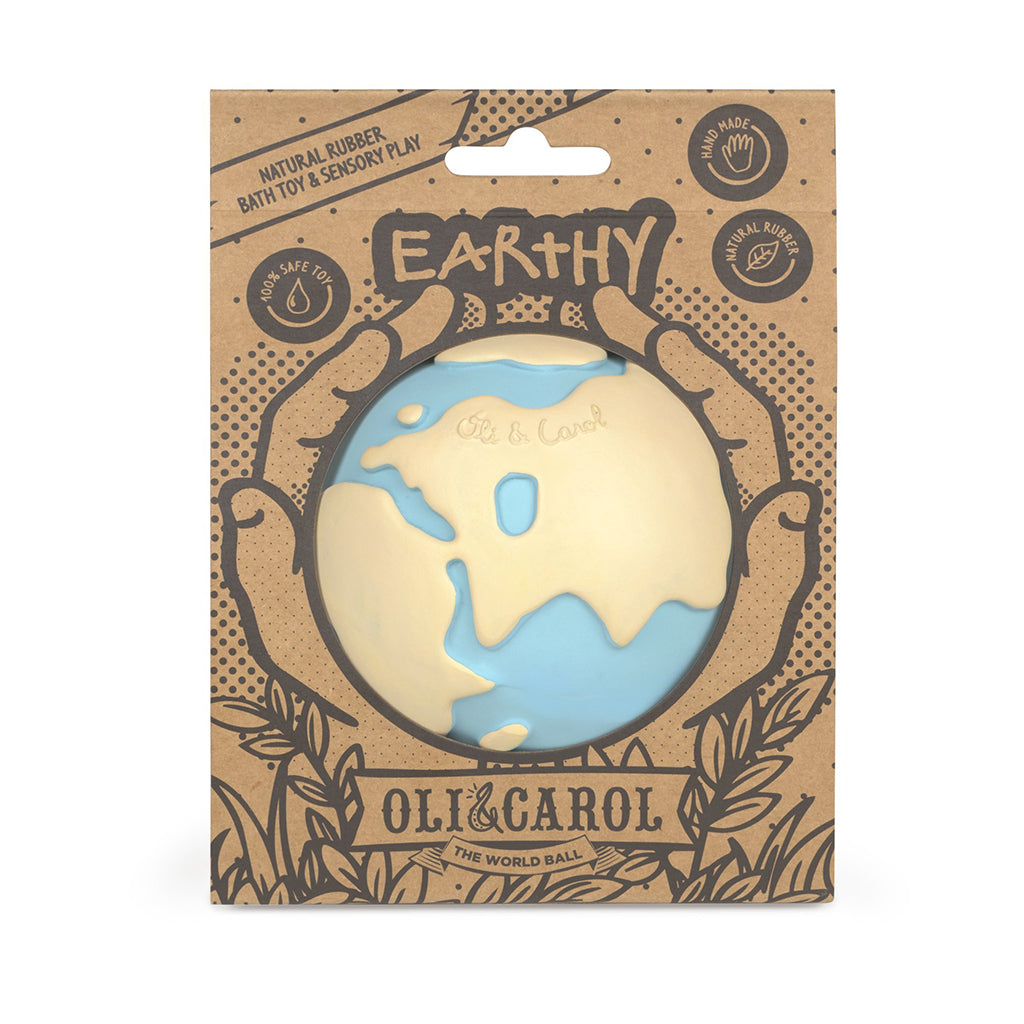 Oli & Carol - Earthy World Ball Rubber Toy | Mapamundi Kids