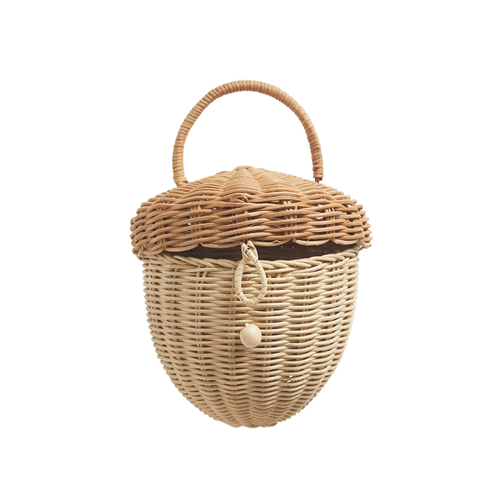 Olli Ella - Wicker Acorn Bag NEW 2020 | Mapamundi Kids