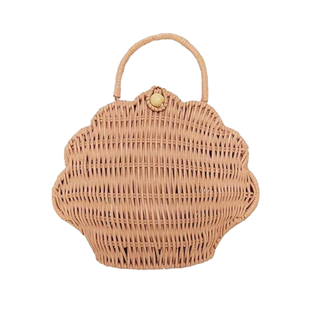 Olli Ella - Wicker Shell Bag - Rose | Mapamundi Kids