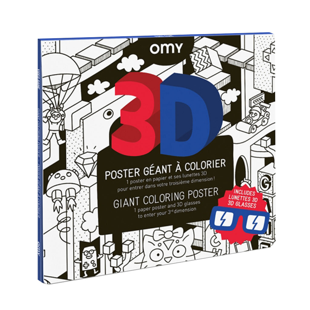 OMY France - Giant Coloring Poster - 3D Game | Mapamundi Kids