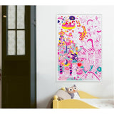 OMY France - Lily Unicorn Giant Coloring Poster - Designed and made in France