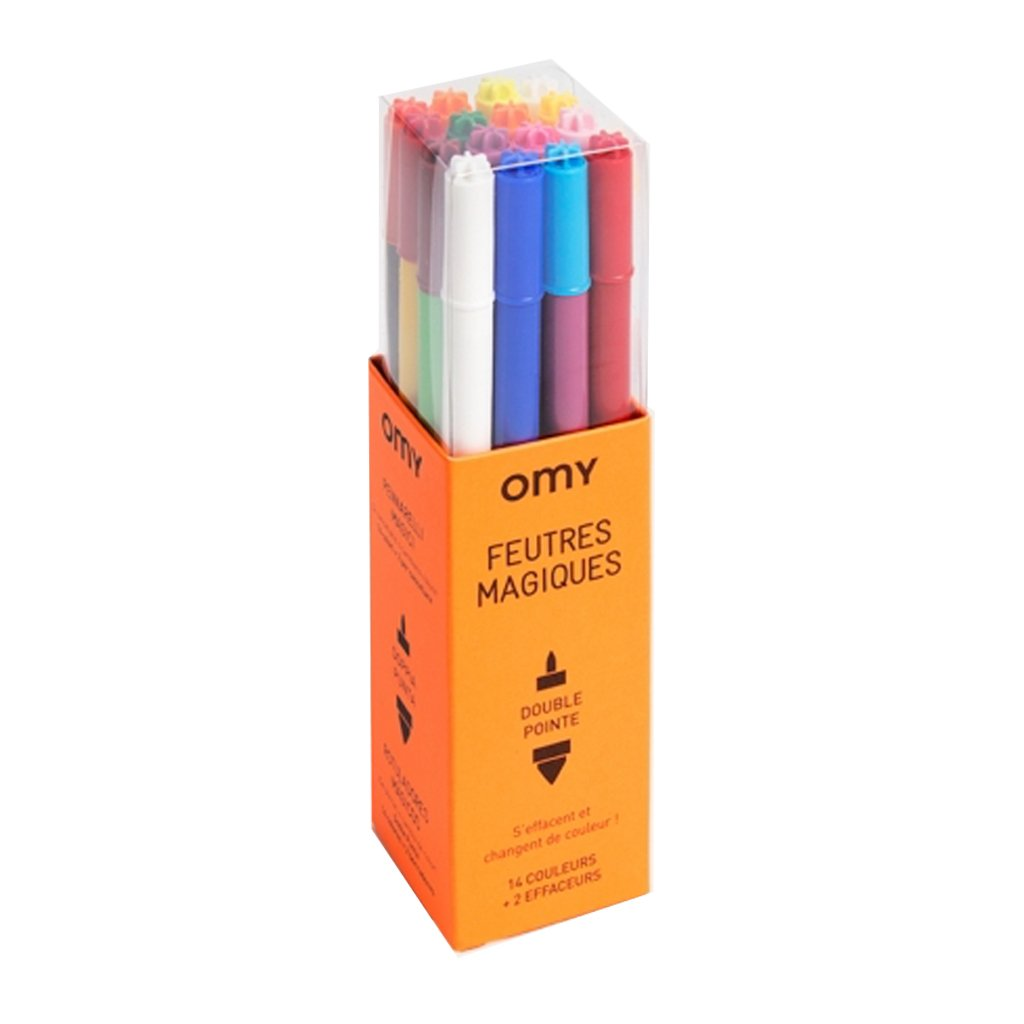 OMY France - Magical Two-Tipped Markers - Set of 16