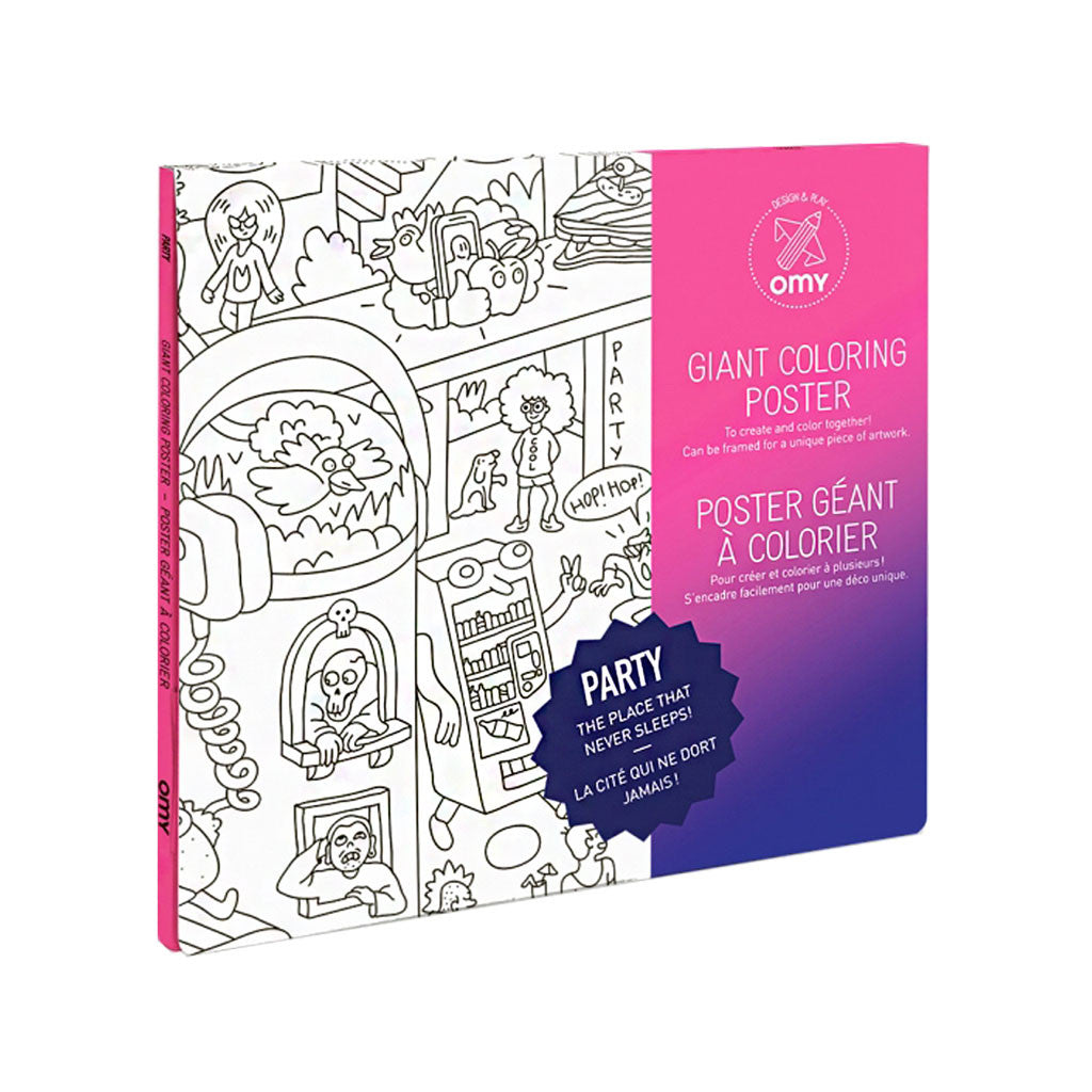giant coloring poster in party theme by omy made in france