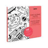 OMY - Pop Giant Coloring Poster - Designed and Made in France