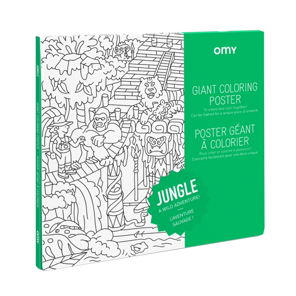OMY France - Giant Coloring Poster - Jungle | Mapamundi Kids