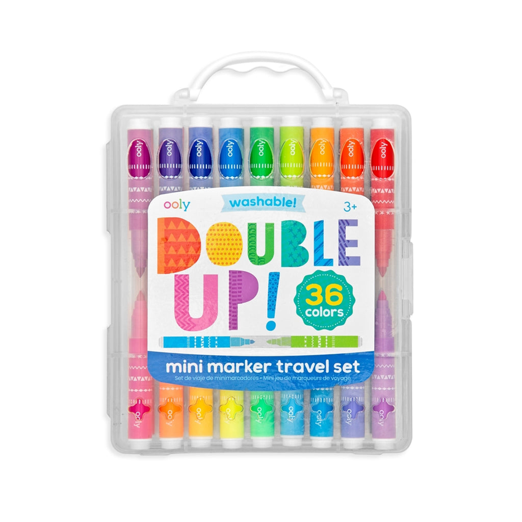 Ooly - Double Up 2-in-1 Mini Marker Travel Set