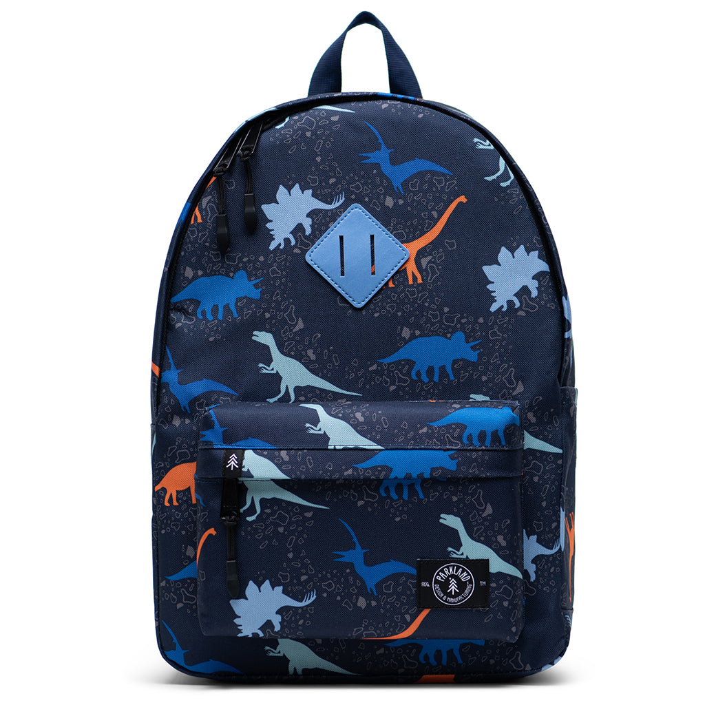 Parkland Mfg - Bayside Backpack in Dino - Made from 100% Recycled Water Bottles - Mapamundi Kids San Francisco