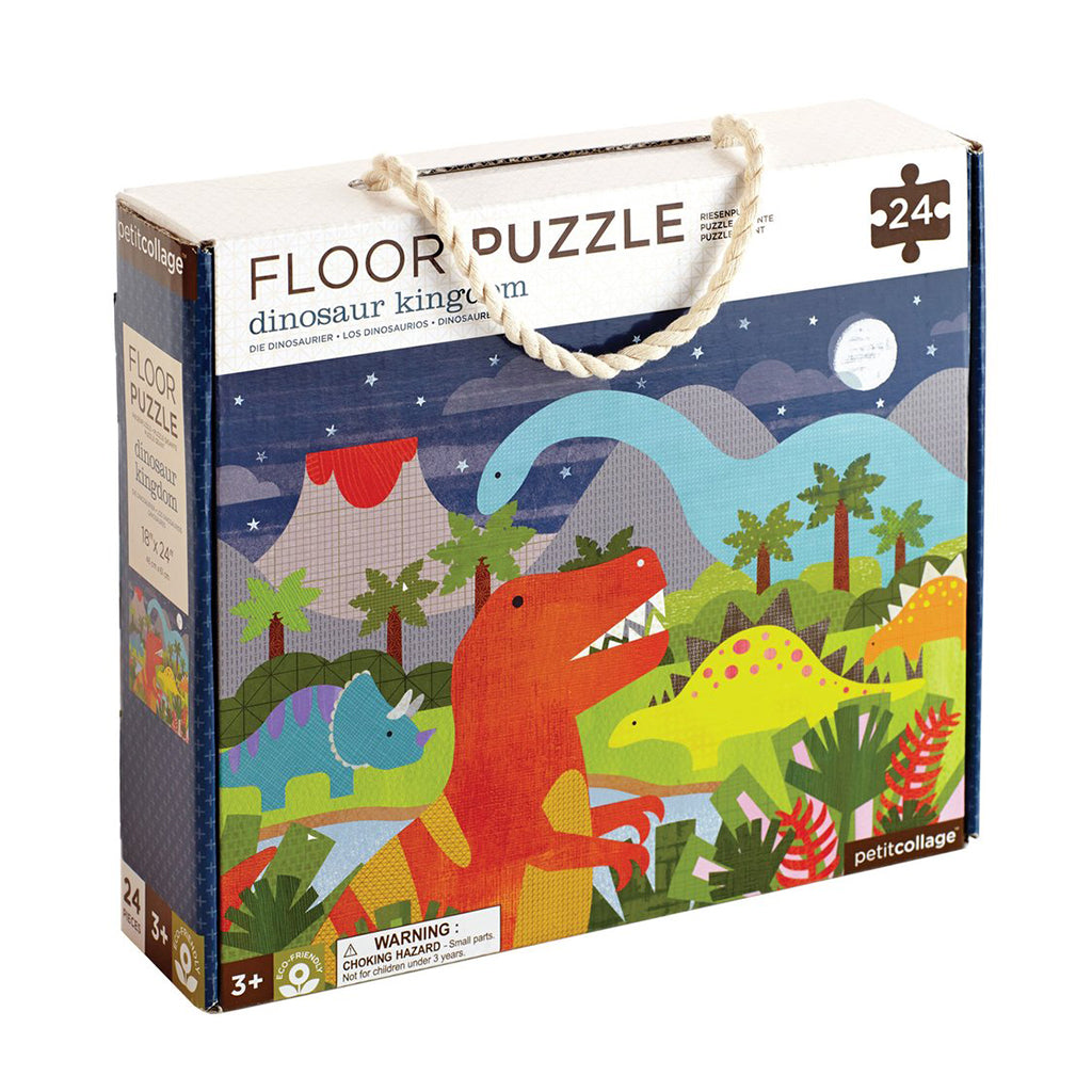 Petit Collage - Dinosaur Kingdom Floor Puzzle