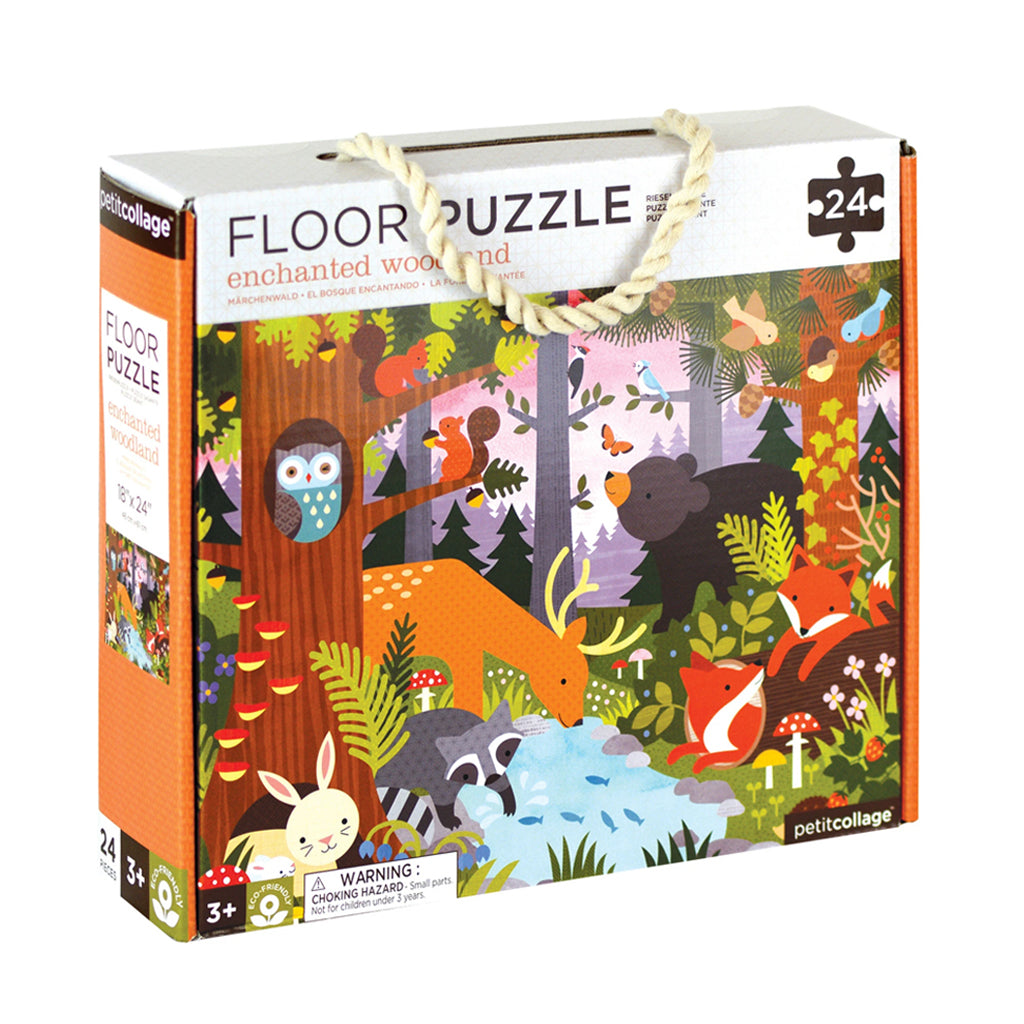 Petit Collage - Enchanted Woodland Floor Puzzle | Mapamundi Kids