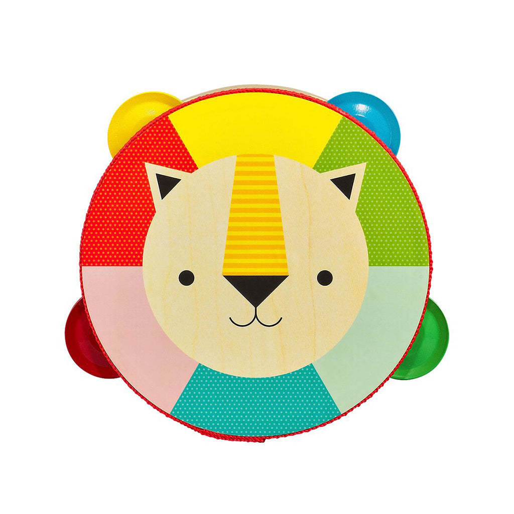 Petit Collage - Kaleidoscope Lion Wooden Tambourine