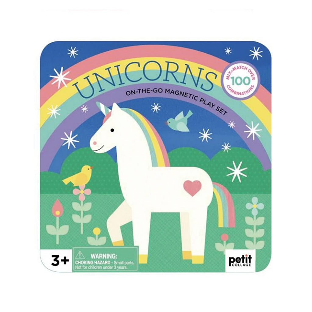 Petit Collage - Magnetic Play Set - Unicorns | Mapamundi Kids