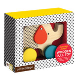 petit collage modern elephant wooden pull toy packaging