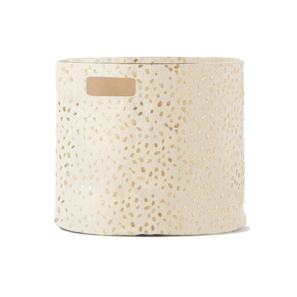 petit pehr gold speck storage pint canvas