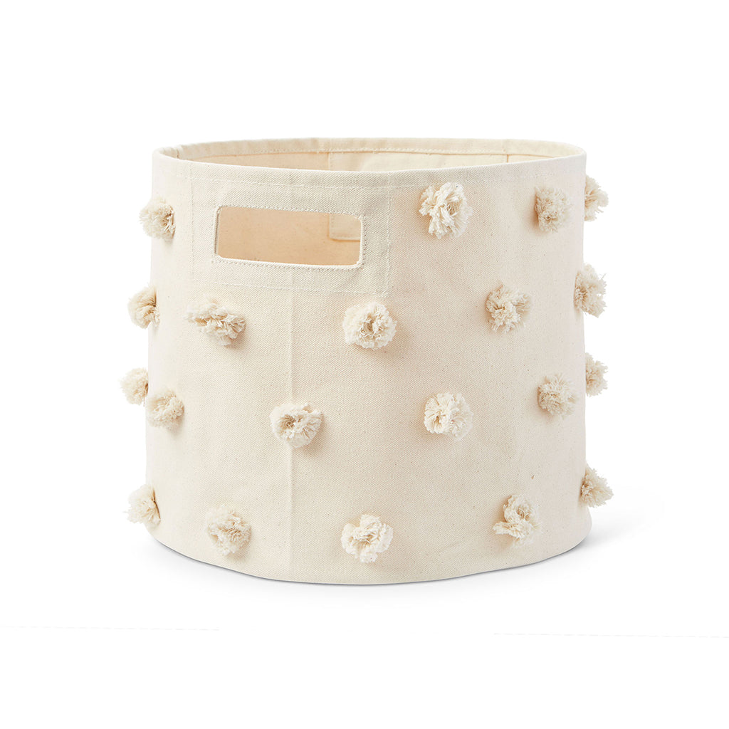 Petit Pehr - Pom Pom Pint Storage Bin - Natural