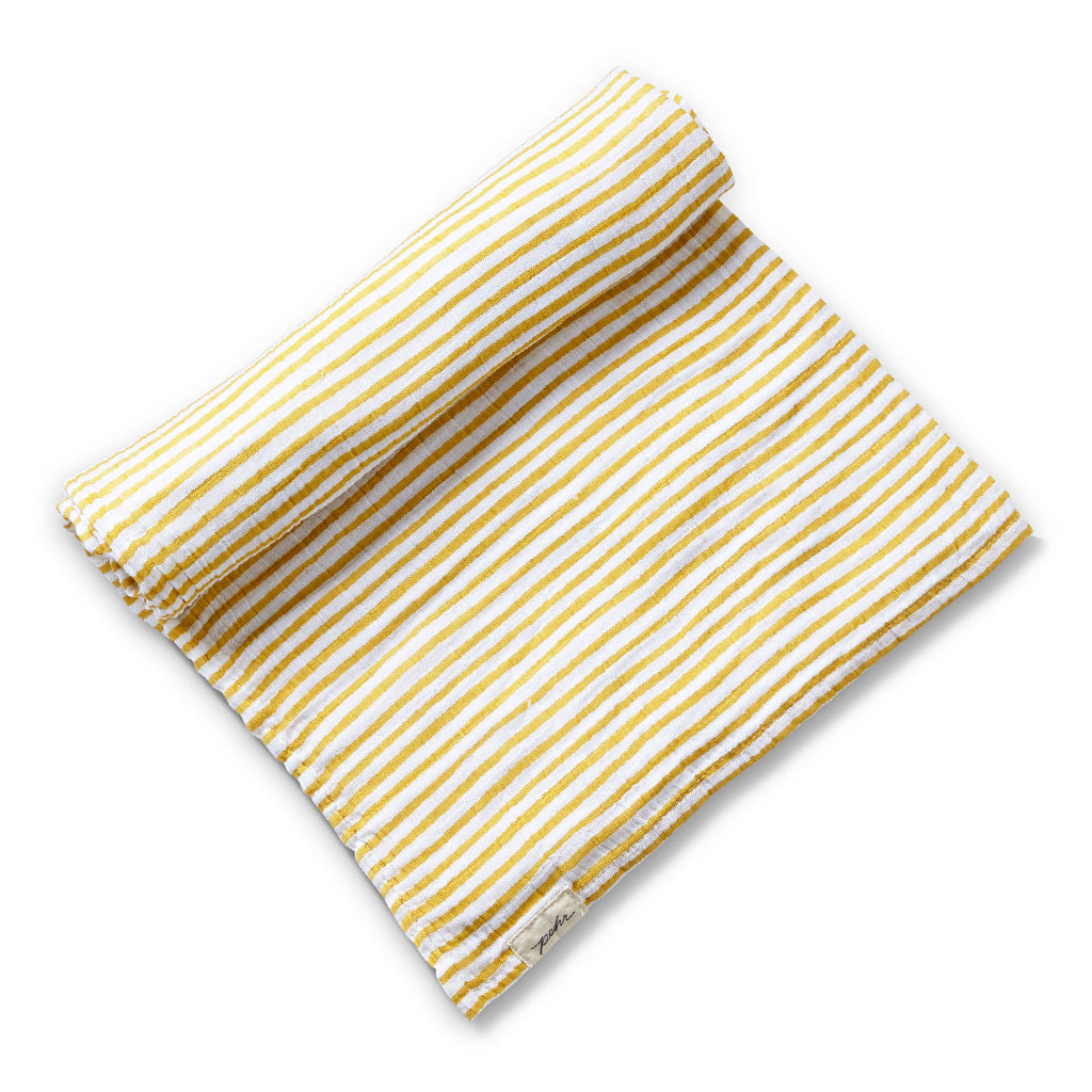 Petit Pehr - Stripes Away Swaddle Blanket - Marigold | Mapamundi Kids