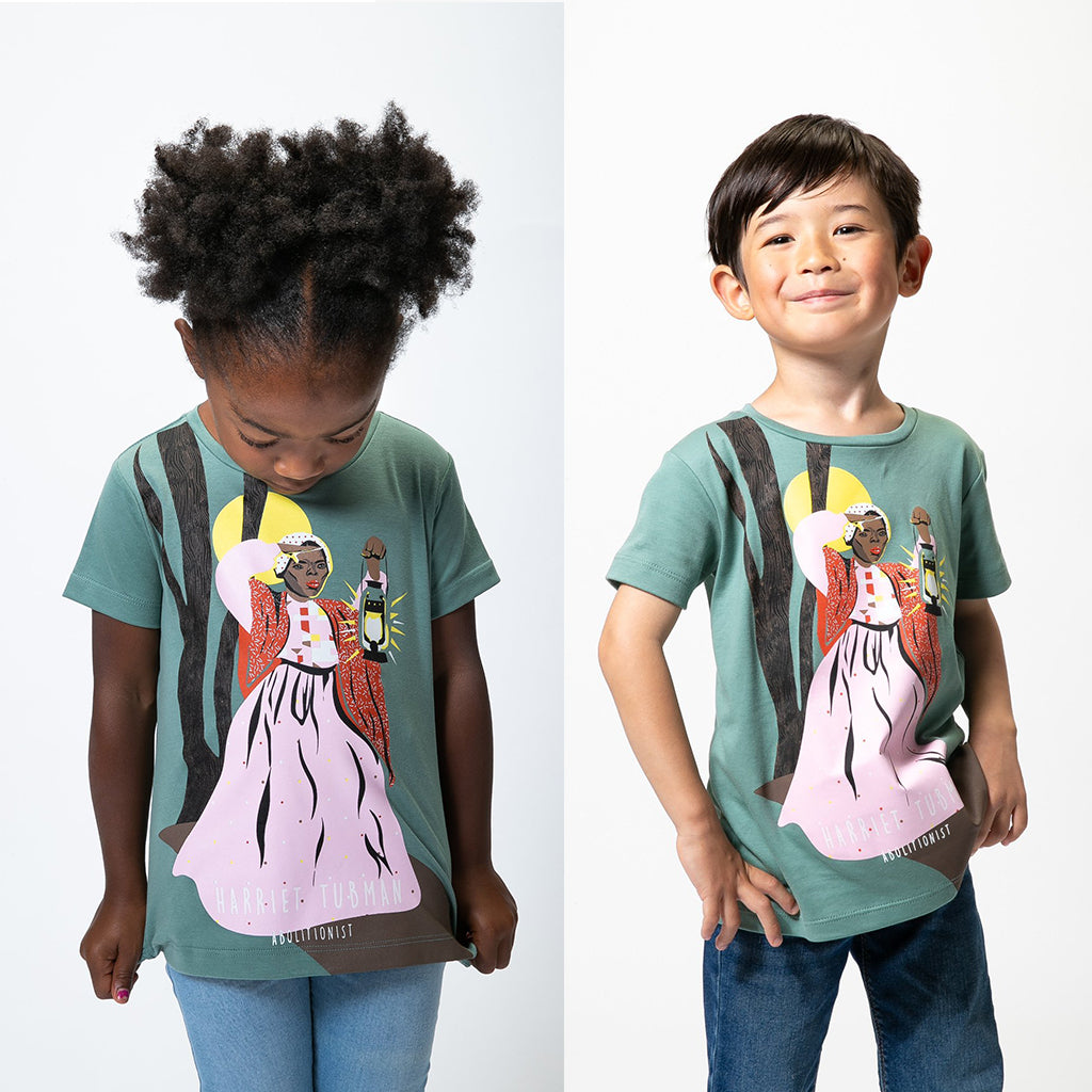 Piccolina - Short Sleeve Trailblazer Tee: Harriet Tubman | Mapamundi Kids