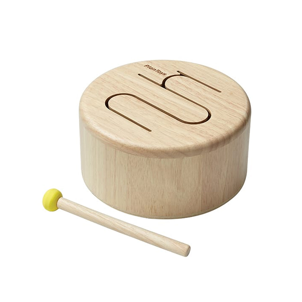 Plan Toys - Solid Drum - Natural | Mapamundi Kids
