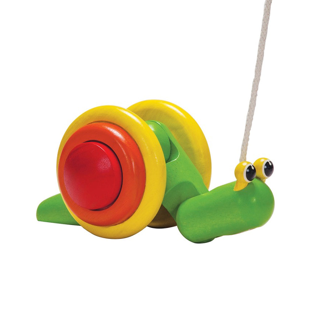 Plan Toys - Pull Along Snail Bright