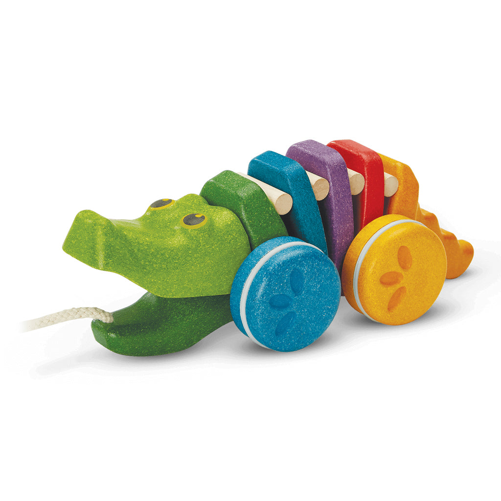 Plan Toys - Rainbow Alligator Pull Toy | Mapamundi Kids
