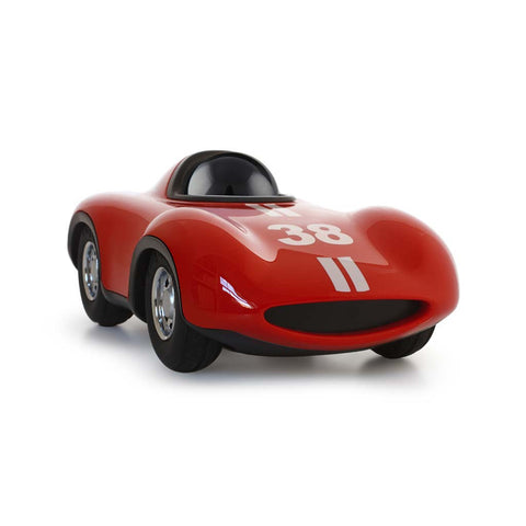 playforever cars designed in the uk mini speedy le mans in red with black helmet