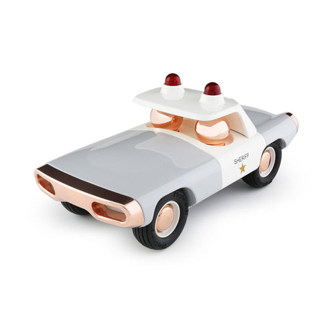 playforever cars designed in the uk maverick style heat sheriff car in white and copper