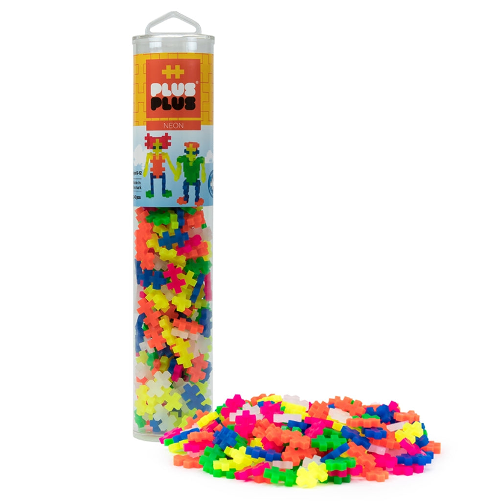 Plus-Plus - 240 Pc Tube: Neon & Basic Colors | Mapamundi Kids