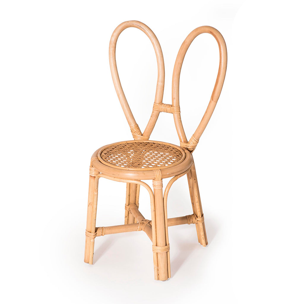 Poppie Toys - Rattan Children's Chair - Bunny | Mapamundi Kids