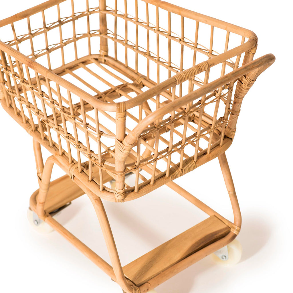 Poppie Toys - Rattan Shopping Cart | Mapamundi Kids