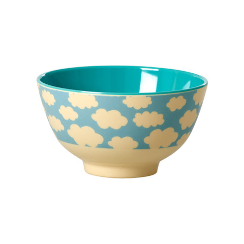 Small Melamine Bowl- Clouds