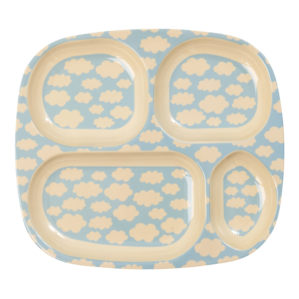 Rice DK - 4 Room Melamine Plate in Cloud Print - Designed in Denmark