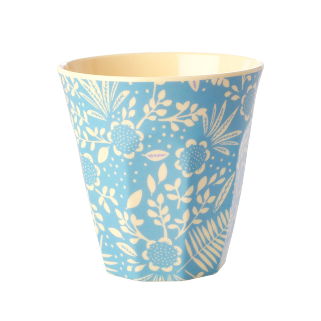 Rice DK - Melamine Print Cup - Blue Fern and Flower