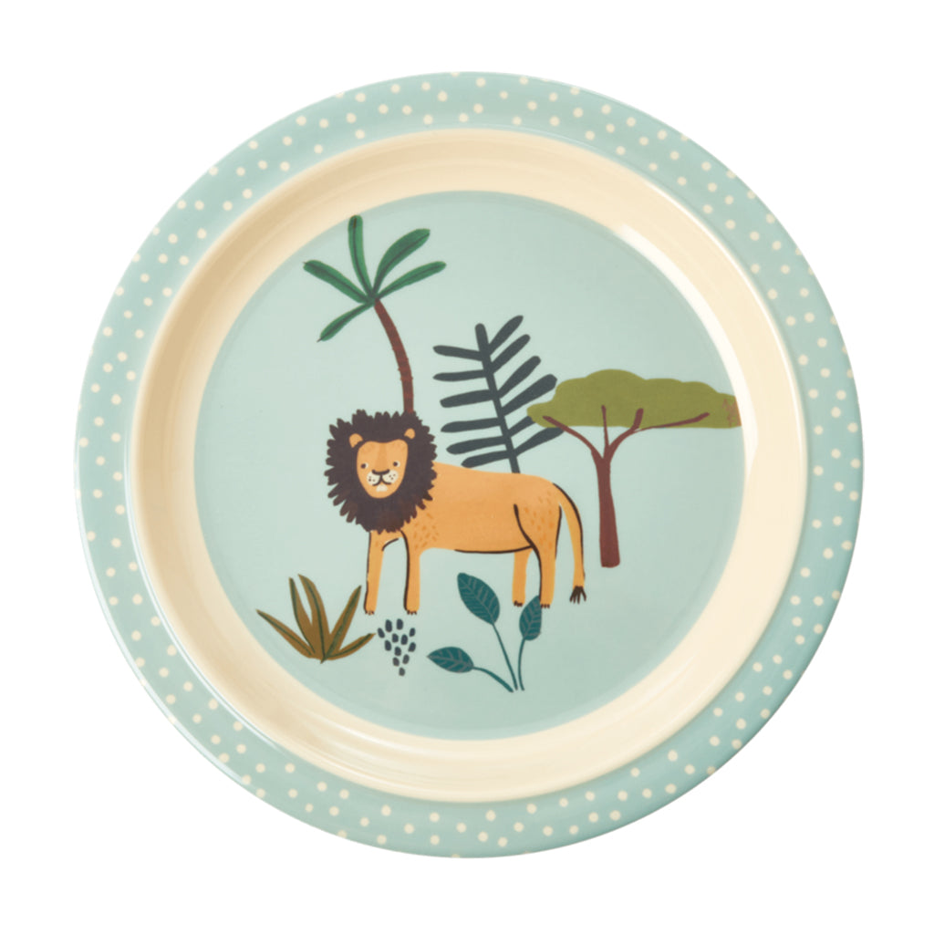 RICE DK - Melamine Lunch Plate AW20 - Blue Jungle | Mapamundi Kids