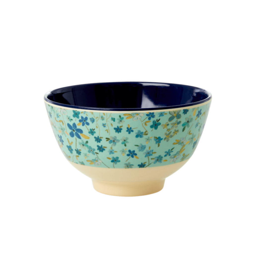 RICE DK - Small Melamine Bowl - Blue Floral | Mapamundi Kids