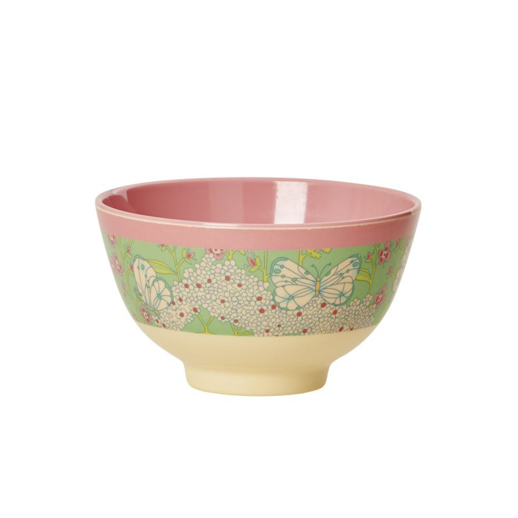 Rice DK - Small Melamine Bowl in Butterfly & Flower - Designed in Denmark