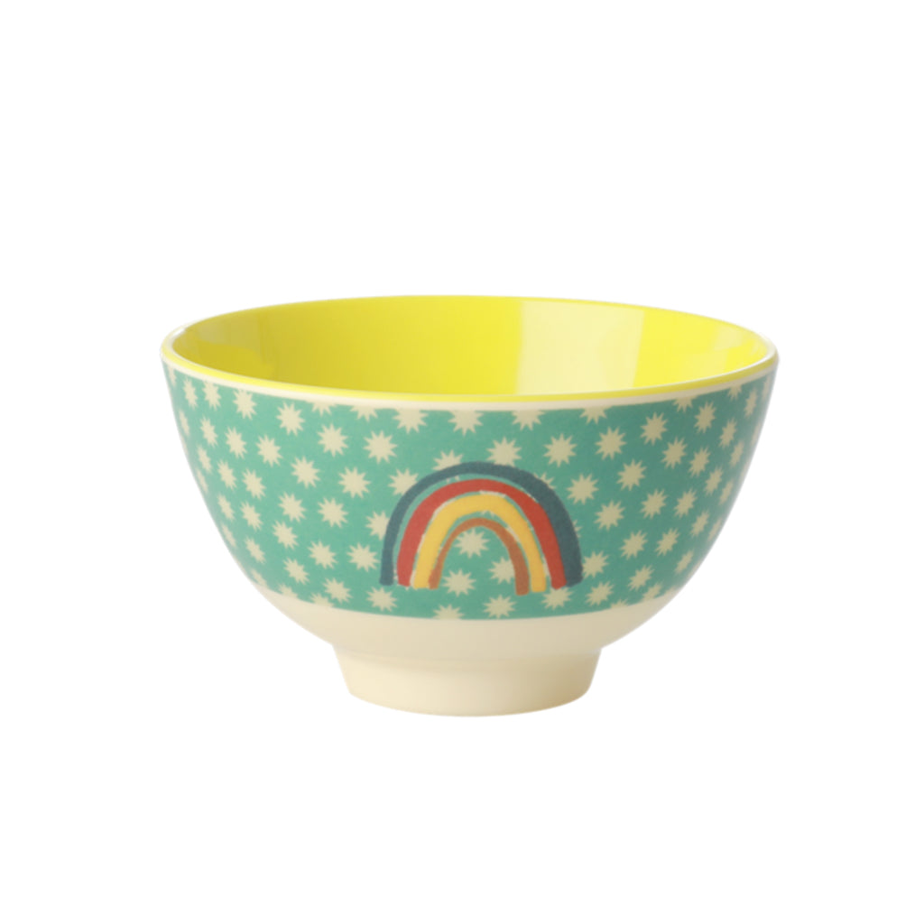 Rice DK - Small Melamine Bowl - Green Rainbow