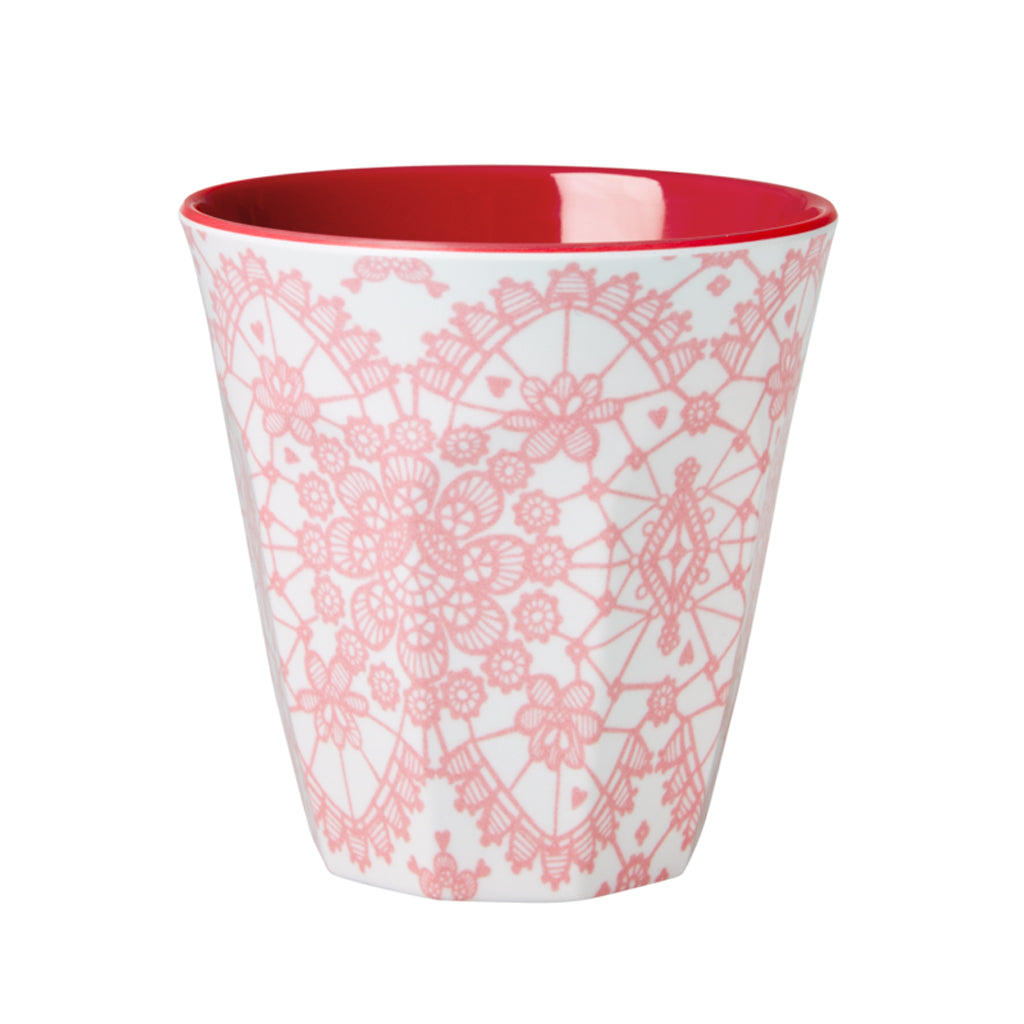 Rice DK - Melamine Print Cup in Two-Tone Pink Lace - Designed in Denmark
