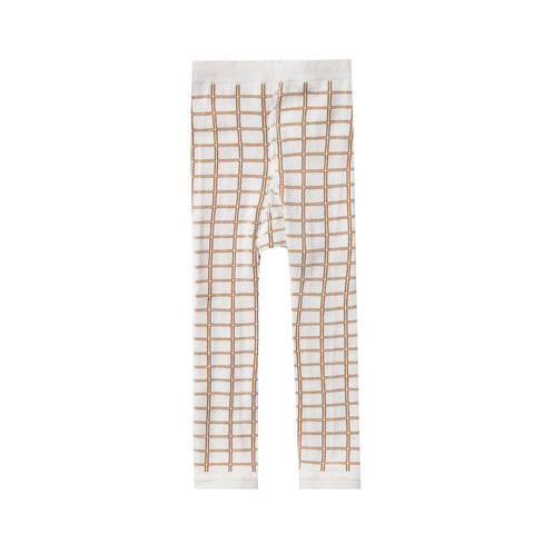 Rylee + Cru - Knit Leggings in Bronze Grid | SS20