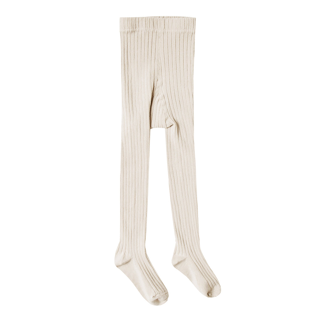 Rylee + Cru - Solid Ribbed Tights - Natural - SS20