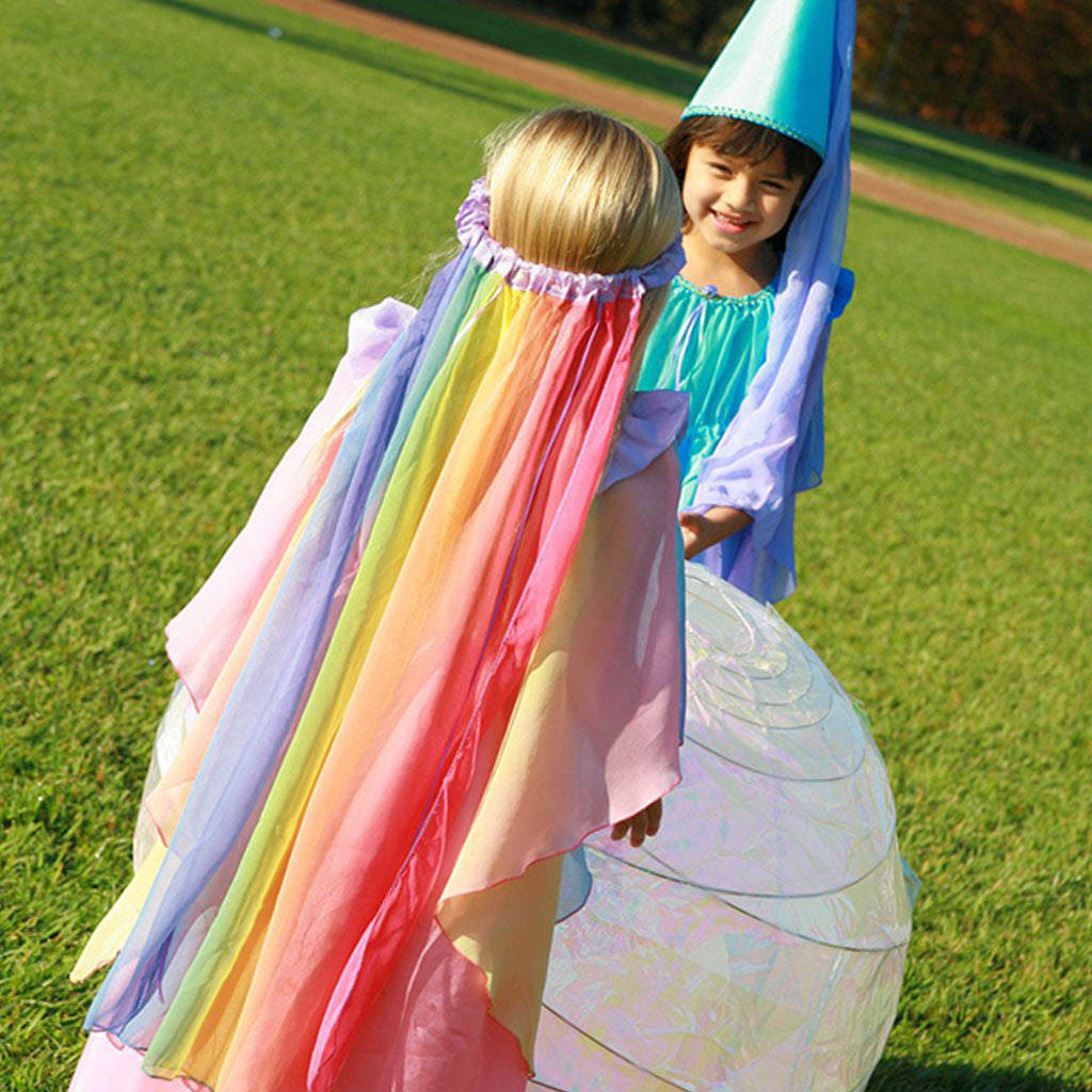 Sarah's Silks - Veil in Rainbow and LavenderSarah's Silks - Rainbow Silk Veil - Made in USA | Mapamundi Kids