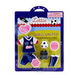 Lottie Girls United Soccer Outfit - Packaging