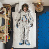 Snurk Living - Astronaut Duvet Cover Set (Twin) - Designed in Holland lifestyle shot bedroom