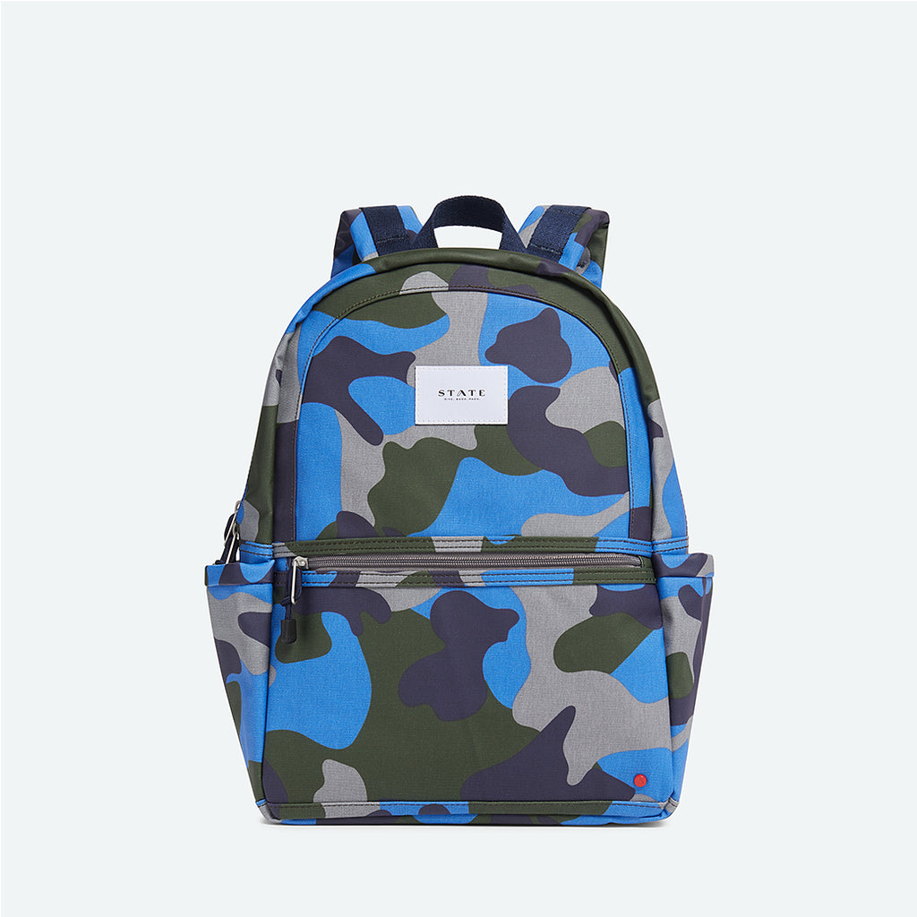 state bags kane coated backpack olive blue camo front