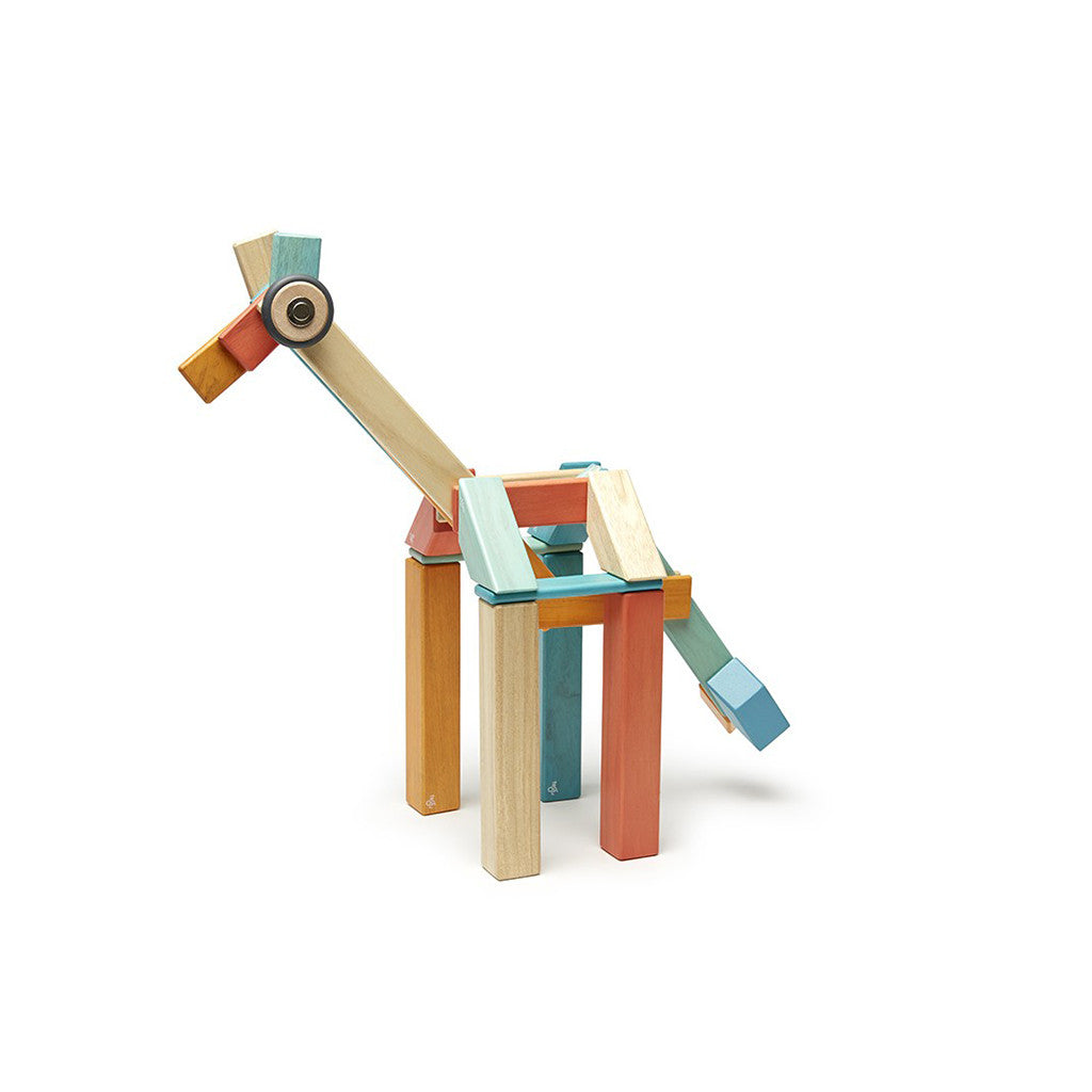 Tegu - Magnetic Wooden Blocks 42 Pc Set in Sunset - Example - alt