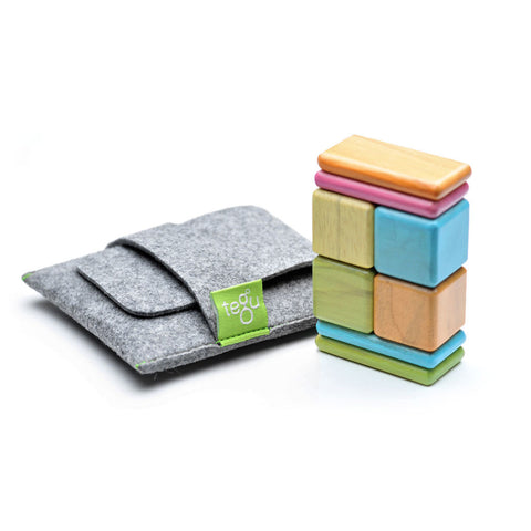 Tegu - Magnetic Wooden Blocks Pocket Pouch in Tints